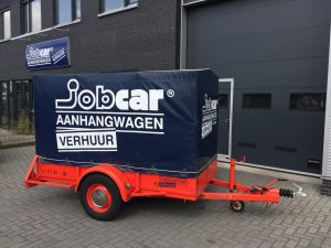 JobCar aanhanger huren Oudenbosch geremd met huif. Sigarenmakerstraat 12, 4871 EL te Etten-Leur