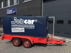 JobCar aanhanger huren Oudenbosch tandem met huif. Sigarenmakerstraat 12, 4871 EL te Etten-Leur